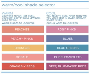 cool and warm makeup chart